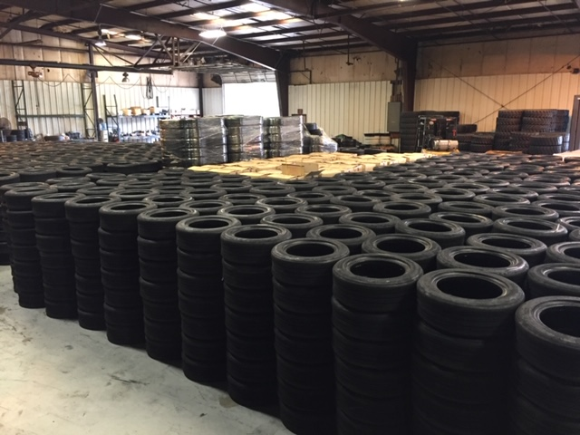 a picture of tires in a warehouse
