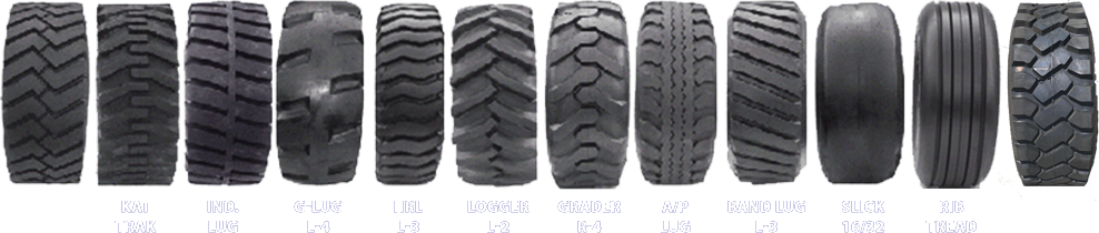 a picture of different tire treads